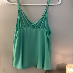 Lush mint green strappy adjustable tank